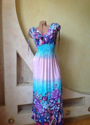 Длинное платье с цветочным принтом. смотрите мои объявления!