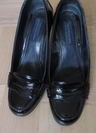 Лаковые туфли tommy hilfiger,кожа