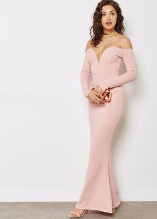 Платье макси, в пол, длинное