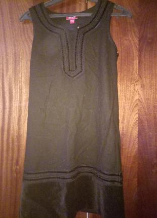 Теплое платье сарафан с вышивкой