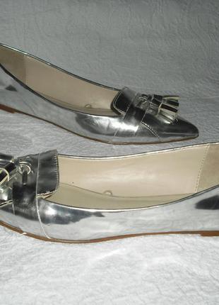 Серебристые туфли zara basic