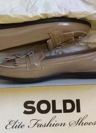 36р 23. 5см кожаные лоферы туфли soldi шелдон-pr на низком ходу ... 773eff3cb28