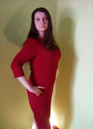 Платья жаккардовые с рукавом три четверти