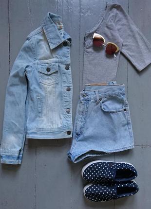 Актуальная олдскульная джинсовая курточка №26
