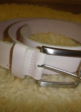 Женский кожаный ремень h&m (швеция) нежно пудрового (бледно розового) цвета