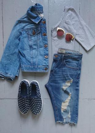 Укороченная джинсовая курточка №28 new look