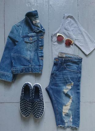 Укороченная джинсовая курточка №29 new look