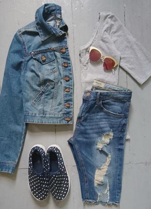 Укороченная джинсовая курточка №33 new look