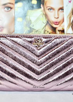 Victoria's secret. кошелек, портмоне, клатч. виктория сикрет. розовый кракелюр.