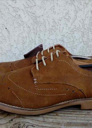Легкие туфли ruosh замша 43р броги