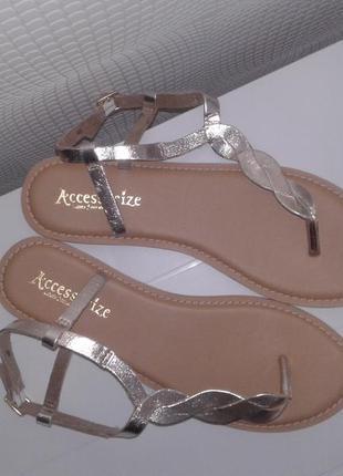 Босоножки, сандалии accessorize кожаные, новые, размер 40