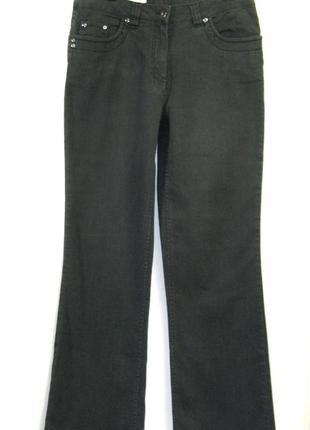 Черные джинсы без наворотов,элегантные ровный крой ,высокая посадка р