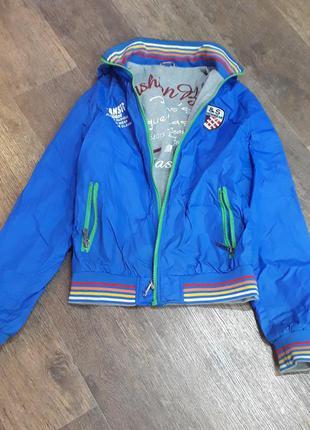 Куртка ветровка двухсторонняя