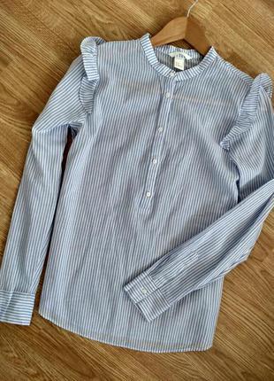 Легкая, катоновая блуза с рюшами