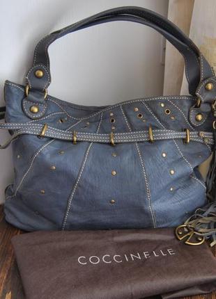 Кожаная сумка coccinelle / шкіряна сумка