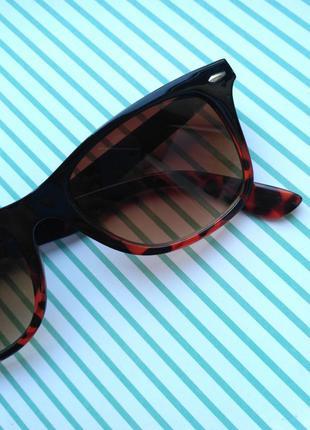 Стильные коричневые очки new yorker с золотыми и леопардовыми вставками