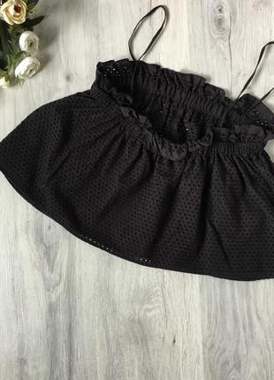 Фирменная котоновая блузка zara размер s