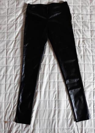 Кожаные брюки лосины