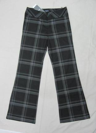 Брюки штаны кюлоты буткаты mexx размер 38 чёрный цвет клетка