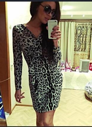 Платье леопардовое. распродажа3