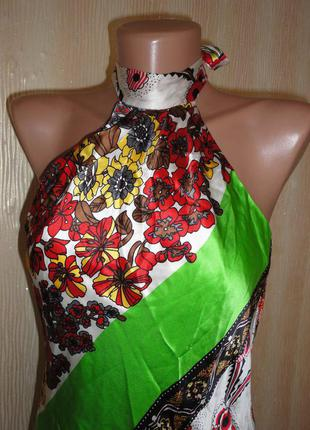 Шелковое платье р.s  (ог 92, дл. 90)
