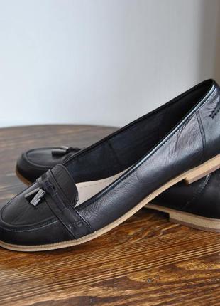 Кожаные лоферы туфли clarks somerset /шкіряні лофери туфлі