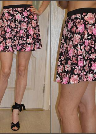 Красивая юбка-клеш в цветы