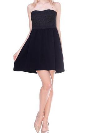 Нарядное вечернее короткое черное платье рр s-m promod, распродажа!