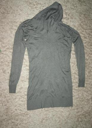 Трикотажное платье-туника серого цвета, размер s, фирма inwear