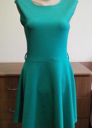 Мятне фактурне плаття