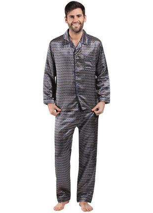 Сатиновая комфортная пижама №2 harvey james