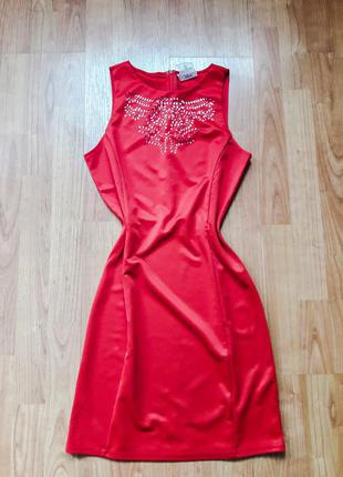Платье красное gloria jeans