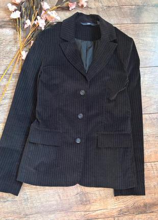 Стильный велюровый блейзер/жакет/пиджак/в полоску от tcm