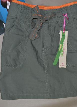 🍇 юбка с вышивкой denim co! 100% cotton!