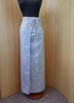 Длинная летняя пляжная юбка парео тайский шелк /юбка саронг1