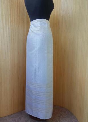 Длинная летняя пляжная юбка парео тайский шелк /юбка саронг4