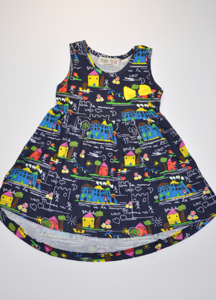 Распродажа! суперское платье темно-синего цвета с моднючим принтом на 92, 116, 128 рост