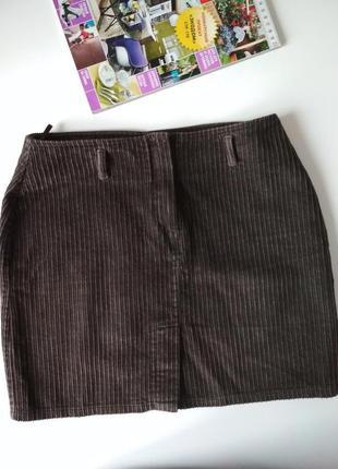 Вельветовая юбка-мини