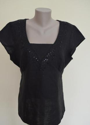 Нарядная блуза с вышивкой лен