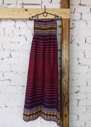 Платье длинное в пол в полоску