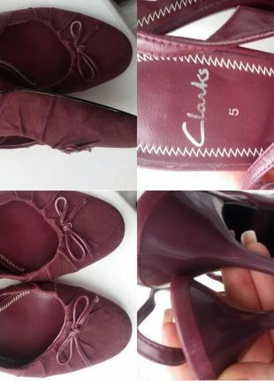 Туфли,босоножки красивого,актуального цветаclarks 5/38 каблук 5 см