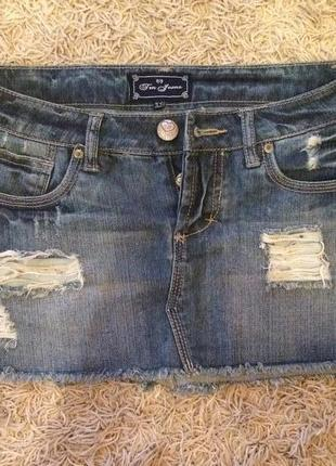 Джинсовая юбка теранова