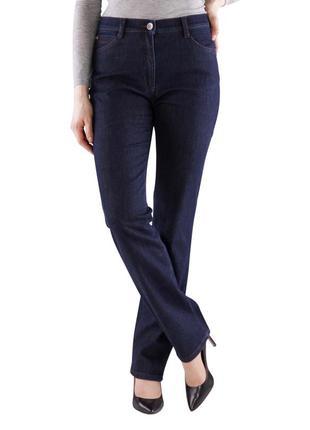 Темные джинсы деним на высокой посадке талии brax оригинал m