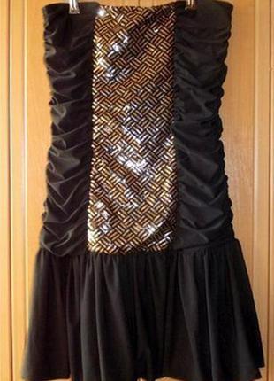Платье бюстье в пайетках jennyfer