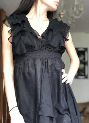 Шифоное платье