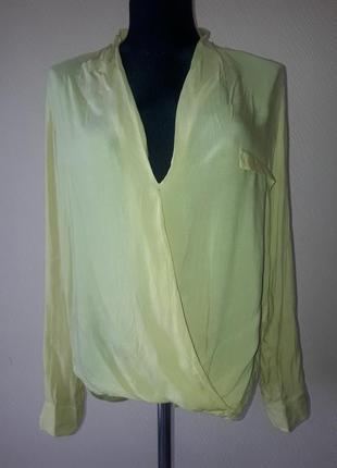 Яркая желтая блуза zara