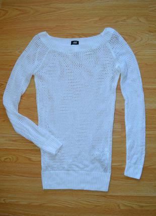 Крутой удлиненный свитер крупной вязки h&m