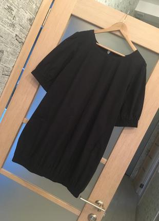 Чёрное платье мини короткое на молнии (бесплатная доставка)