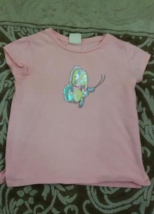 Супер футболка zara зара на девочку 4-5 лет