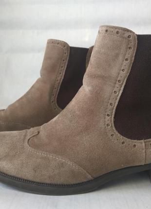Стильные челси (полусапожки, ботинки) из натуральной замши (кожи) 5th avenue!